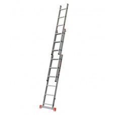 НВ123 Лестница бытовая трехсекционная Алюминий НОВАЯ ВЫСОТА 3*14 ступеней
