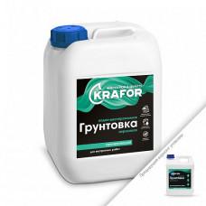 Грунтовка Krafor проникающая белая 1 л для стен и других поверхностей