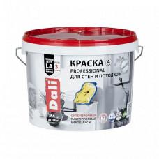 Краска Dali Professional A глубокоматовая 9 л для стен и потолка