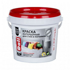Краска Dali Интерьерная белая глубокоматовая 0,9 л для стен и потолка