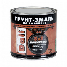 Грунт-эмаль по ржавчине Dali Special молотковая коричневая глянцевая 0,75 л для оград