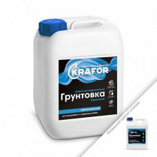 Грунтовка Krafor проникающая универсальная белая 1 л для стен и других поверхностей