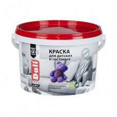 Краска Dali Для детских и гостиных белая глубокоматовая 2,5 л для стен и потолка