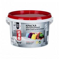 Краска Dali Интерьерная белая глубокоматовая 2,5 л для стен и потолка