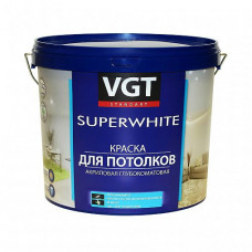 Краска VGT ВД-АК-2180 супербелая глубокоматовая 7 кг для потолка