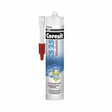 Герметик-затирка силиконовая Ceresit CS 25 № 01 белая 280 мл