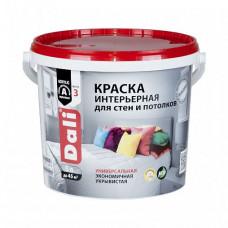 Краска Dali Интерьерная белая глубокоматовая 5 л для стен и потолка