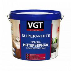 Краска VGT ВД-АК-2180 интерьерная супербелая A матовая 3 кг для стен и потолков