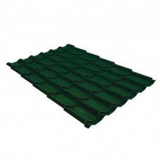 Металлочерепица 2,25*1,19 м *0,4 мм ПЭ зеленый (RAL 6005)