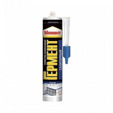 Герметик силиконовый Момент Гермент санитарный белый 280 мл