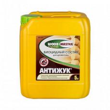 Биоцидный состав Woodmaster Антижук бесцветный 5 л для перекрытий, перегородок, стен