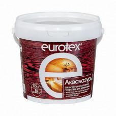 Защитно-декоративный лак для дерева Евротекс Аквалазурь орех 0,9 кг