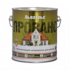 Антисептик Акватекс Прованс ваниль полуматовый 2,5 л для фасада, садовых строений