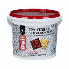 Грунтовка Dali Бетон-контакт розовая 12 кг для стен и потолка
