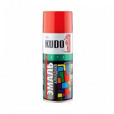 Эмаль аэрозольная Kudo Arte Gloss Finish KU-1003 красная 520 мл для металла, дерева