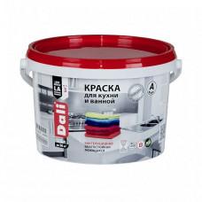 Краска Dali Для кухни и ванной A глубокоматовая 2,5 л для стен и потолка