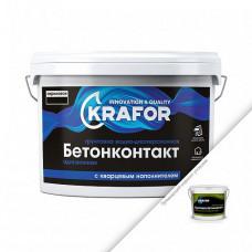 Грунтовка Krafor Бетон-контакт розовая 12 кг для обработки бетона, изделий из пенобетона