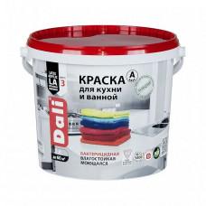 Краска Dali Для кухни и ванной A глубокоматовая 5 л для стен и потолка