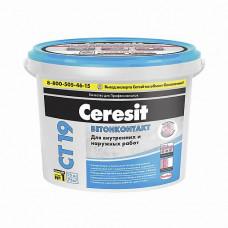 Грунтовка Ceresit Бетонконтакт СТ 19 бесцветная матовая 15 кг для стен и потолков