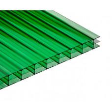 Поликарбонат сотовый зеленый 4мм 2,1*12м