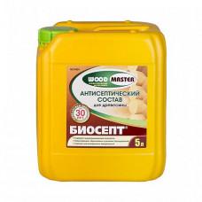 Пропиточный состав Woodmaster Биосепт бесцветный 5 л для перекрытий, перегородок, стен