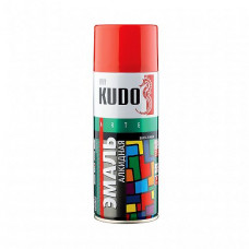 Эмаль аэрозольная Kudo Arte Gloss Finish KU-1002 черная глянцевая 520 мл для металла