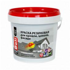 Краска Dali Резиновая красно-коричневая глубокоматовая 1,3 кг для стен, потолка, кровли