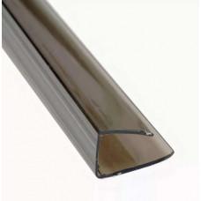 Профиль UP торцевой 4мм POLYPLAST коричневый, 2,1м