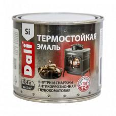 Эмаль Dali черная матовая 0,4 л для печей, каминов, мангалов, дымоходов и труб