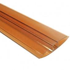 Профиль HP соединительный 10мм POLYPLAST бронзовый, 6м