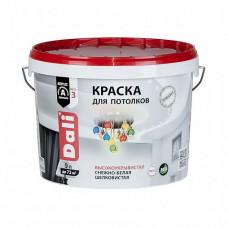 Краска Dali Для потолков белая глубокоматовая 9 л для стен и потолка