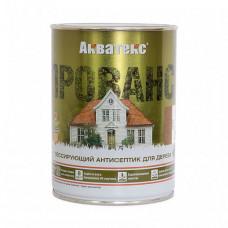 Антисептик Акватекс Прованс белый полуматовый 0,75 л для фасада, садовых строений